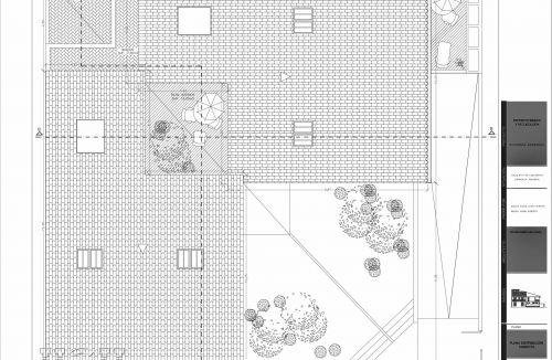 Planta cubierta de proyecto básico y ejecución de viviendas unifamiliares adosadas en Loriguilla, valencia. Proyecto y dirección de obra realizada íntegramente por personal de Global Home Happiness.
