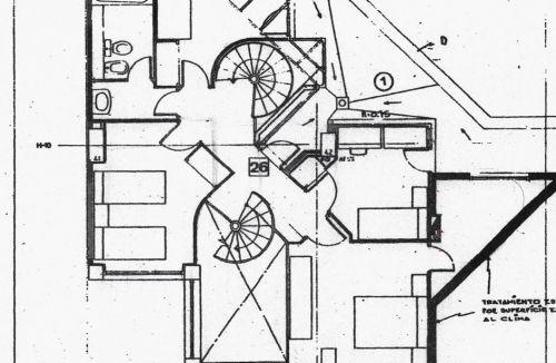 Estado original planta primer del proyecto reducido básico y ejecución de reforma de vivienda, en Valencia. Proyecto y dirección de obra realizada íntegramente por personal de Global Home Happiness.